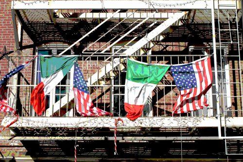 ID D17 2193 –Flags on a balcony