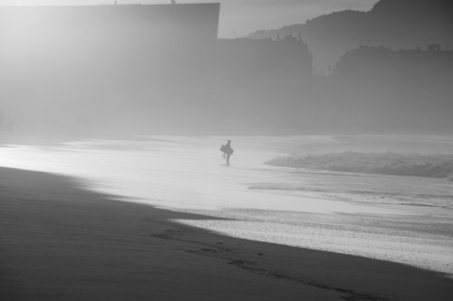 ID D17 2265 – Bodyboarder at sunset